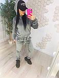 Жіночий модний велюровий спортивний костюм з капюшоном (Норма), фото 3