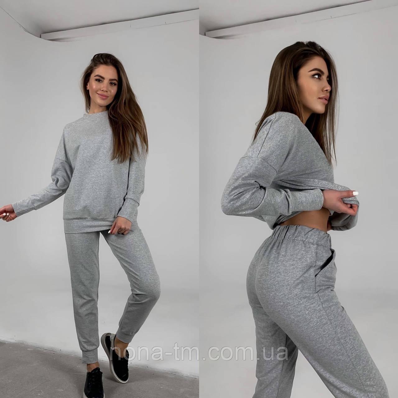 Жіночий спортивний костюм стильний в стилі oversize (Норма)