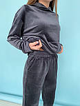 Женский однотонный велюровый костюм в расцветках (Норма), фото 4