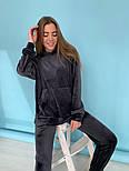 Женский однотонный велюровый костюм в расцветках (Норма), фото 6