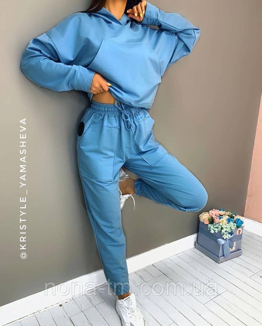 Трендовый женский спортивный костюм в расцветках (Норма)