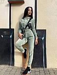 Жіночий стильний велюровий костюм в кольорах (Норма і батал), фото 3
