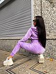 Жіночий стильний велюровий костюм в кольорах (Норма і батал), фото 10