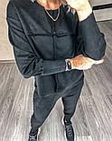 Женский прогулочный спортивный костюм из замши в расцветках (Норма), фото 4