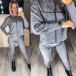 Женский прогулочный спортивный костюм из замши в расцветках (Норма), фото 9
