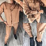 Женский прогулочный спортивный костюм из замши в расцветках (Норма), фото 10