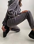 Велюровый женский спортивный костюм с капюшоном (Норма), фото 8