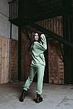 Спортивный женский костюм из двухнити с укороченной кофтой с капюшоном (Норма и батал), фото 3