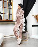Женский стильный велюровый костюм с укороченной кофтой (Норма), фото 4