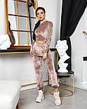 Женский стильный велюровый костюм с укороченной кофтой (Норма), фото 10