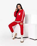 Женский стильный спортивный костюм с имитацией футболки и лампасами (Норма и батал), фото 4