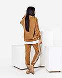 Женский стильный спортивный костюм с имитацией футболки и лампасами (Норма и батал), фото 9