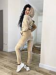 Жіночий стильний велюровий спортивний костюм з капюшоном (Норма і батал), фото 9