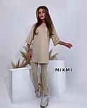 Жіночий стильний спортивний костюм з лосинами і подовженою кофтою (Норма), фото 9