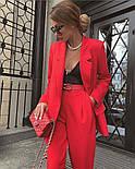 Жіночий яскравий брючний костюм костюм-двійка в кольорах (Норма), фото 4