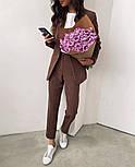 Жіночий яскравий брючний костюм костюм-двійка в кольорах (Норма), фото 8