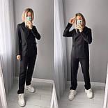 Стильний жіночий класичний костюм-двійка з піджаком і брюками (Норма), фото 4