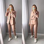 Стильний жіночий класичний костюм-двійка з піджаком і брюками (Норма), фото 6