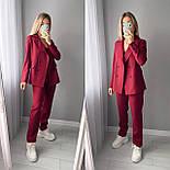 Стильный женский классический костюм-двойка с пиджаком и брюками (Норма), фото 7