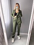 Стильний жіночий класичний костюм-двійка з піджаком і брюками (Норма), фото 9
