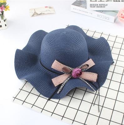 Женская пляжная летняя шляпа Flower sun blue