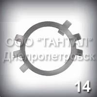 Шайба 14 оцинкована ГОСТ 11872-89 стопорная многолапчатая