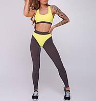 Спортивный комплект для фитнеса Asalart Griz-yellow
