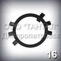 Шайба 16 ГОСТ 11872-89 стопорная многолапчатая