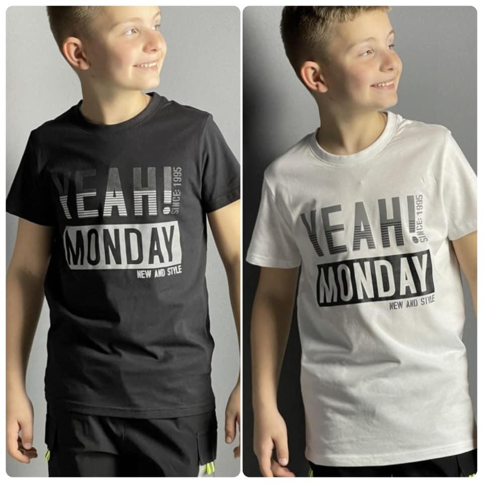 Стильные детские футболки для мальчика  MONDAY! Glo-story). Венгрия.  134-140 размер.