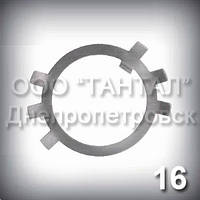 Шайба 16 оцинкована ГОСТ 11872-89 стопорная многолапчатая