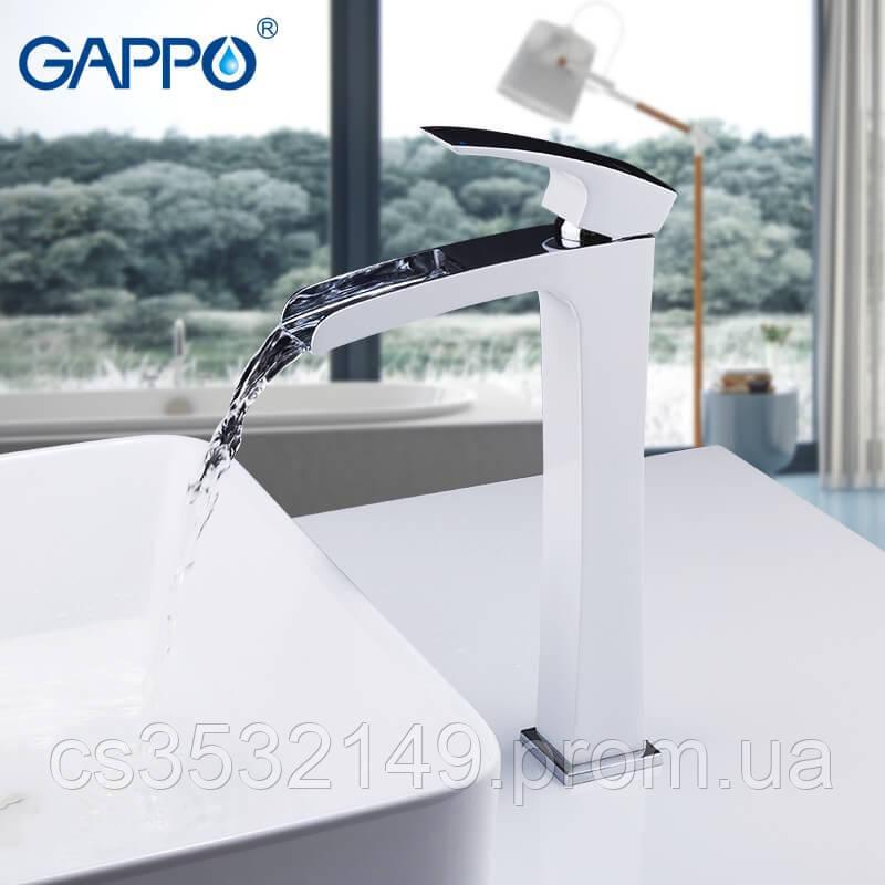 Смеситель для умывальника Gappo JACOB G1007-31 Белый/Хром