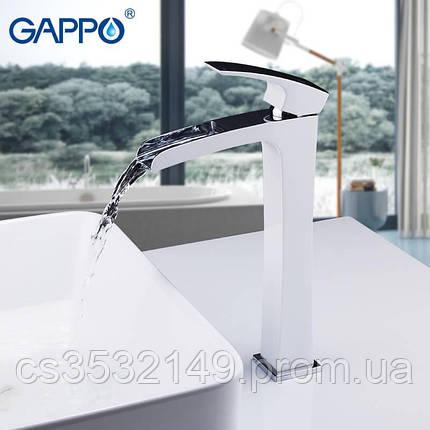 Смеситель для умывальника Gappo JACOB G1007-31 Белый/Хром, фото 2