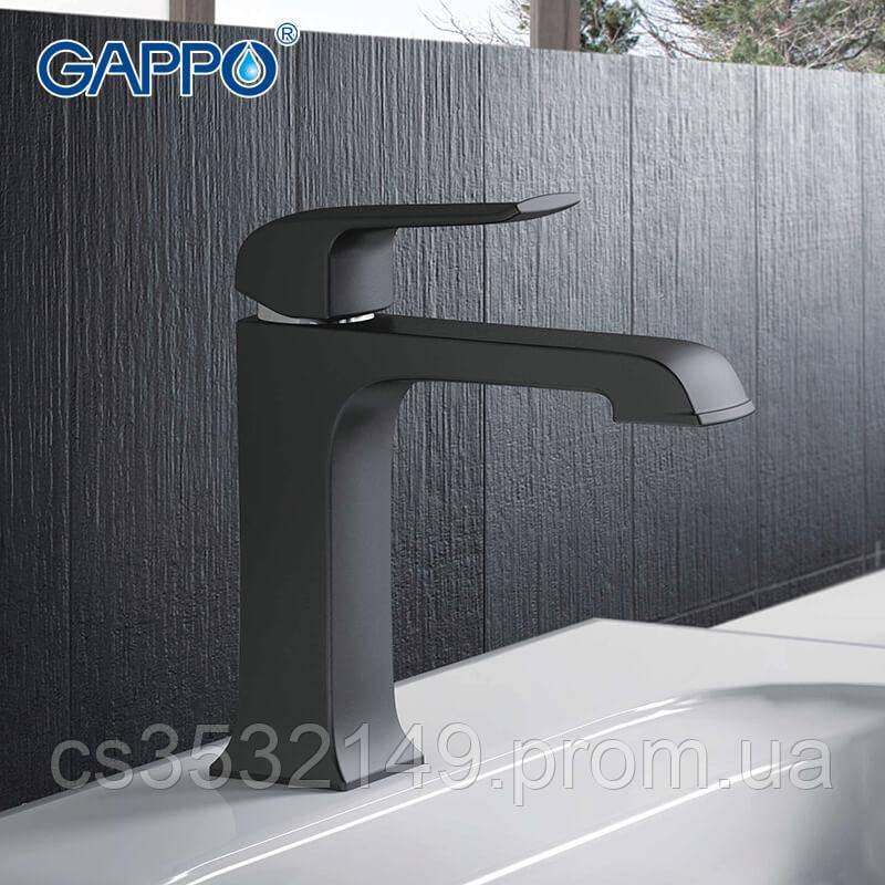 Змішувач для умивальника Gappo AVENTADOR G1050 Чорний