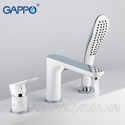 Смеситель для ванны встраиваемый  Gappo NOAR G1148 Белый/Хром, фото 2