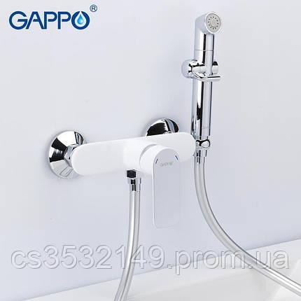 Смеситель для гигиенического душа Gappo NOAR G2048-8 Белый/Хром, фото 2