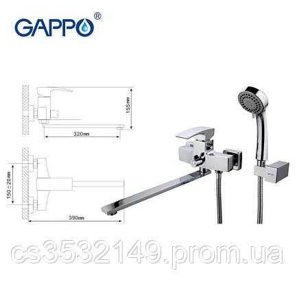 Змішувач для ванни Gappo JACOB G2207, фото 2