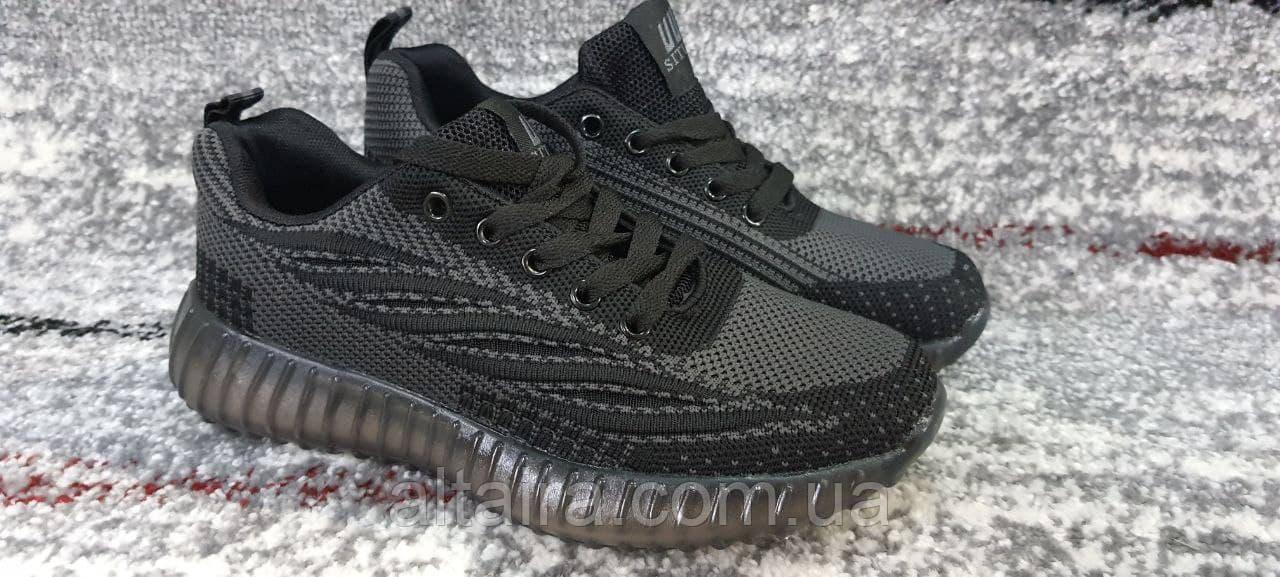 Підліткові кросівки сітка темно-сірі на силіконовій підошві. 36-41