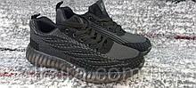 Подростковые кроссовки сетка темно-серые на силиконовой подошве. 36-41