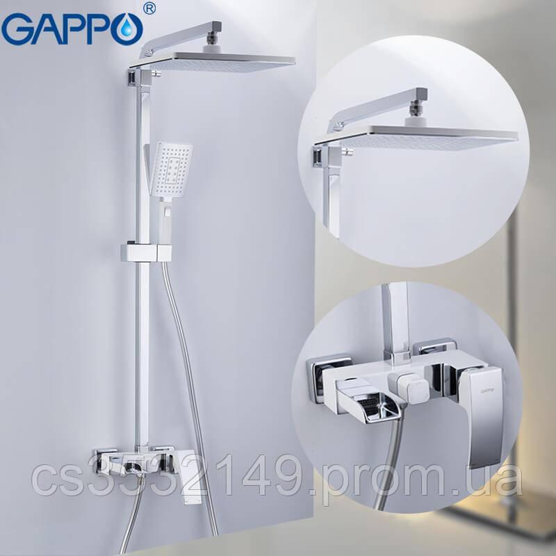 Душевая система / стойка Gappo JACOB G2407-30 Белый/Хром