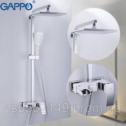 Душова система / стійка Gappo JACOB G2407-30 Білий/Хром, фото 2
