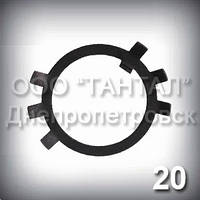 Шайба 20 ГОСТ 11872-89 стопорная многолапчатая