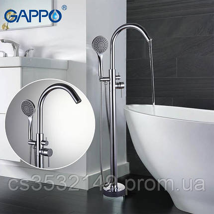 Змішувач для ванни підлоговий Gappo JACOB G3098, фото 2