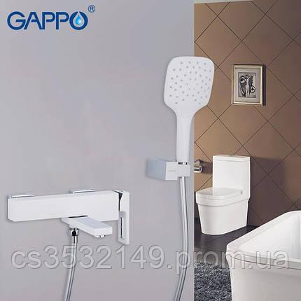 Смеситель для ванны Gappo FUTURA G3217-8 Белый/Хром, фото 2
