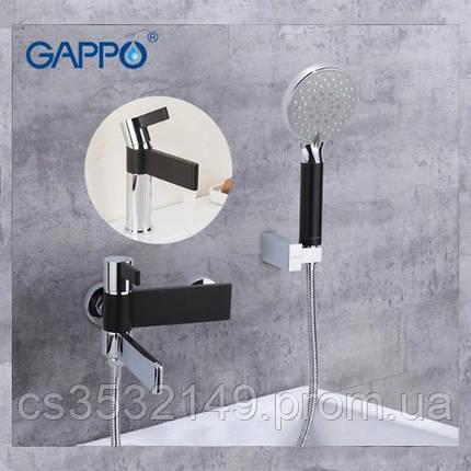 Змішувач для ванни Gappo ATALANTIC G3281 Чорний/Хром, фото 2