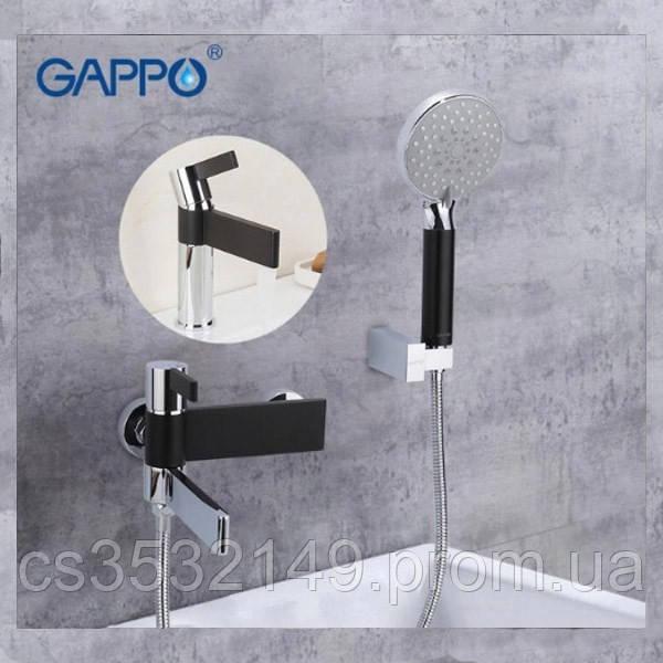 Змішувач для ванни Gappo ATALANTIC G3281 Чорний/Хром