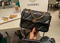 Жіноча сумка конверт ша нель 19 на ланцюжку, фото 1