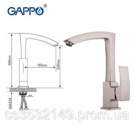 Змішувач для кухні Gappo JACOB G4007-5 Сатин, фото 2