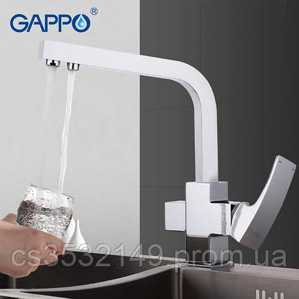 Змішувач для кухні з підключенням до фільтру Gappo G4307, фото 2