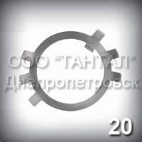 Шайба 20 оцинкована ГОСТ 11872-89 стопорная многолапчатая