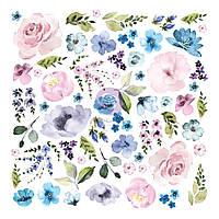 Висічки - Watercolor Floral - Prima Marketing - 62 шт.